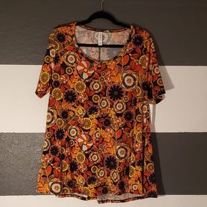 LuLaRoe Floral Perfect T Size M - NWT